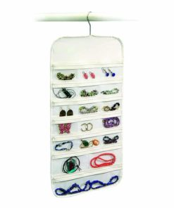 Richards Homewares Hanging Jewelry Organizer 37 Pockets Bedroom Closet Color: White