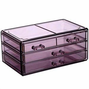 Ikee Design Acrylic Jewelry & Cosmetic/Makeup Storage Display Boxes Set.