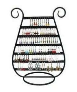 Adorox Earring Holder Jewelry Organizer Necklace Hanger Wall Stand Rack Black Classic Display