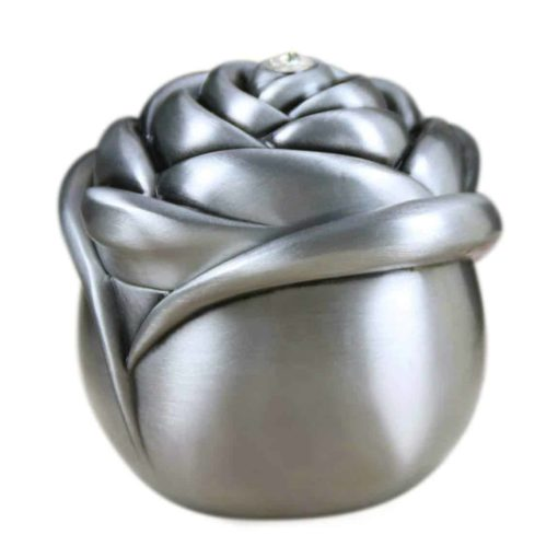 mossty Women Metal Jewelry Box Rose Shape Vintage European Style Princess Ring Box Trinket Organizer Small Size