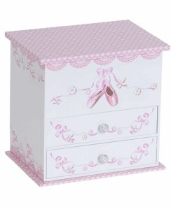 Mele & Co. Angel Girl's Musical Ballerina Jewelry Box (Ballet Slipper and Ribbon Design)