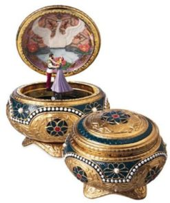 The San Francisco Music Box Company Anastasia - Alexandra & Nicholas Hinged Trinket Box