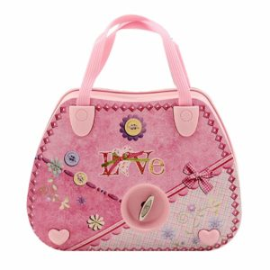 Felice Childrens Musical Jewelry Box Pink Purse Shape Ballerina Music Box for Little Girls