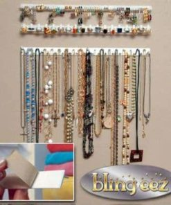 Edtoy 9pcs Household Hanging Jewelry Hook Organizer Earring Ring Necklace Organizers