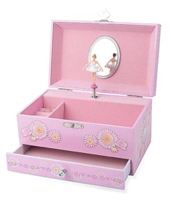 "Ballerina Music Jewelry Box with Melody is ""Swan Lake"" Pink"