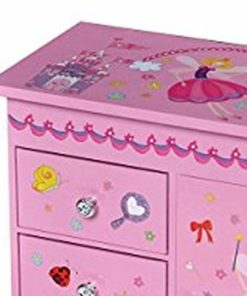 Mele & Co. Krista Girl's Musical Ballerina Upright Jewelry Box (Castles/Fairy Princess)