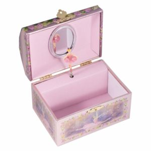 Childrens Purple Musical Music Box Jewelry Music Box Spinning Dancing Ballerina Drawer-Tune is Swan Lake