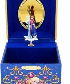 Disney Parks Frozen Elsa Anna Musical Jewelry Box NEW