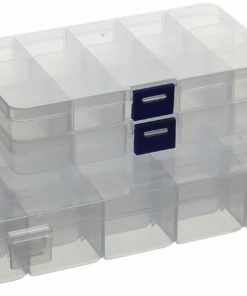 KLOUD City Jewelry Box Organizers with Adjustable Dividers for Beads and Earrings Storage(3Pcs Clear Plastic) …