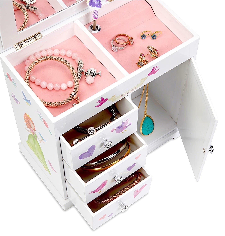 Wooden Jewelry box Hand Painted Jewelry box Princess Fairy Inspired Jewelry Box jewelry armoire Pink and Purple Jewelry box