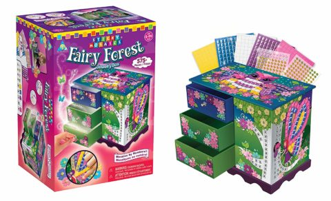 Orb Factory Sticky Mosaics Kit, Fairy Forest Jewelry Box
