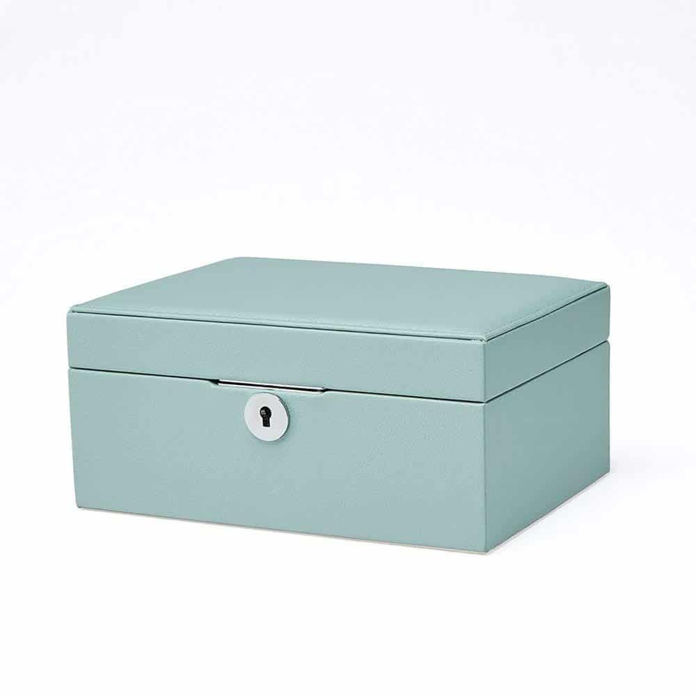 c66c26195a154 Vlando Pandora Jewelry Box, Jewelry Organizer and Storage with Mirror and  Tray -Blue