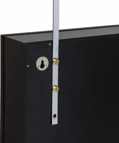 Best Choice Products Wall Door Mounted Locking Mirror Jewelry Cabinet Organizer W/Keys- Black