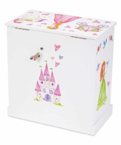 Girl/'s Personalized Fairy Princess Jewelry Armoire Tall Upright Jewelrybox with Crown Tiara pink lavender custom white wood jewee-whi-324