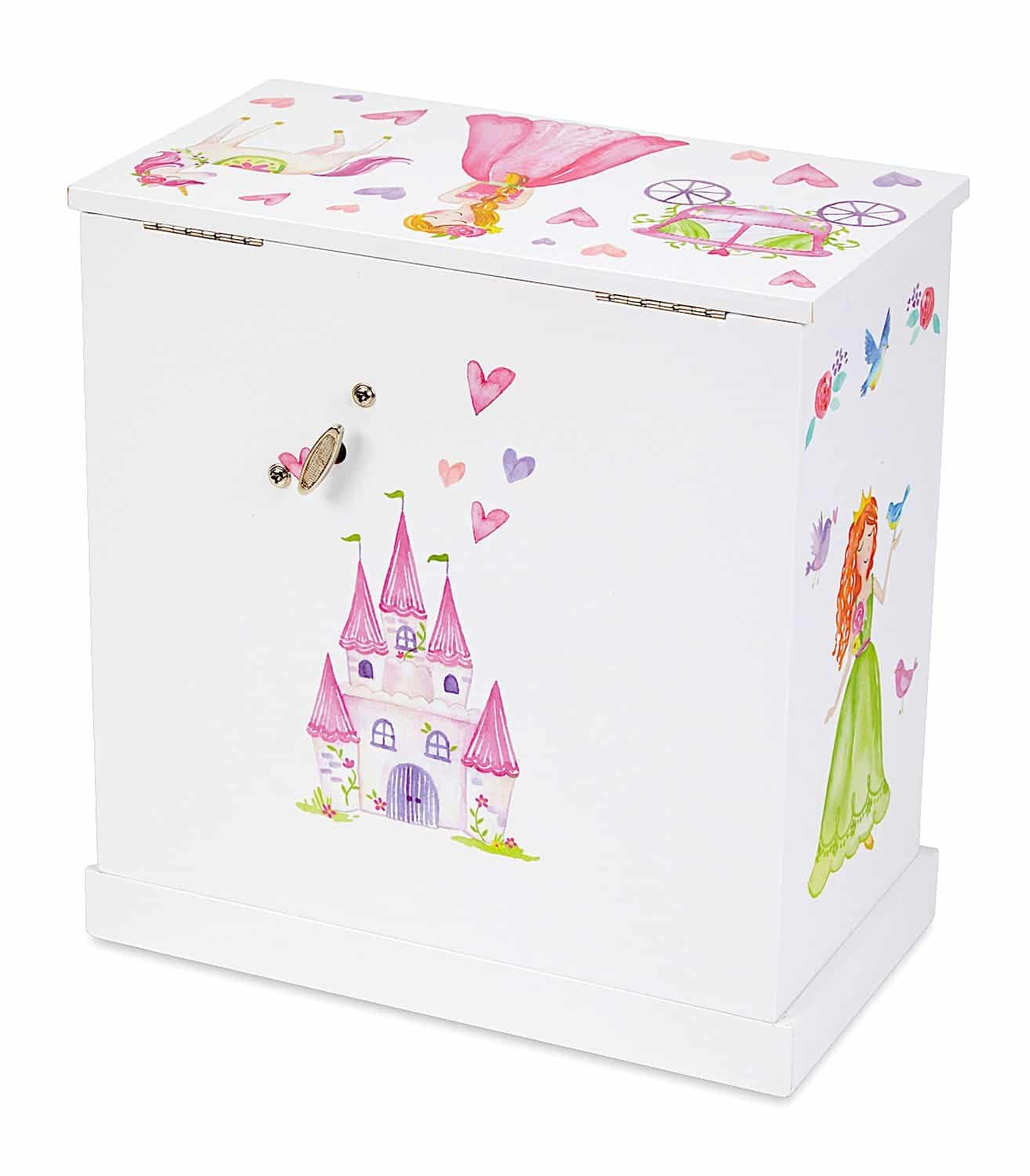 Jewelkeeper Unicorn Musical Jewelry Box With 3 Pullout Drawers