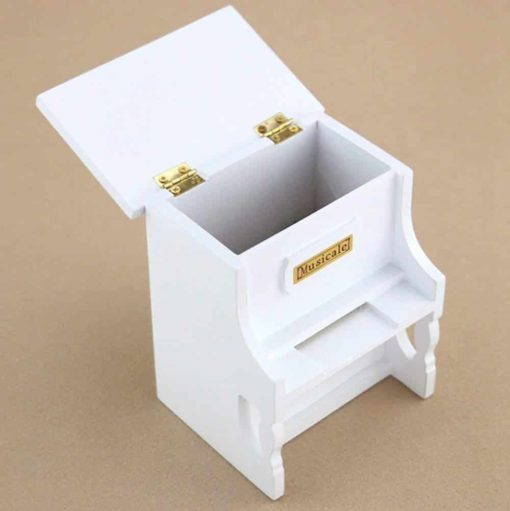 Youtang(TM) Wooden Music Box Musical Piano, DIY Make Yr Own Song Include a Punch and 30 Music Papers, 16 with Melody and 14 are Blank for You to Create Your Own Song! (Model2)