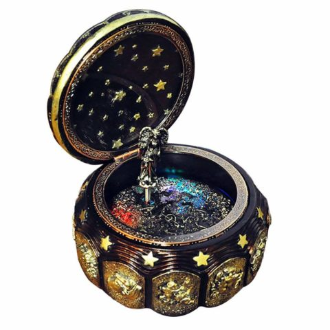 GnD Vintage Mechanical Classical Collectible Music Box with Sankyo 18-Note,Plays Castle in the Sky