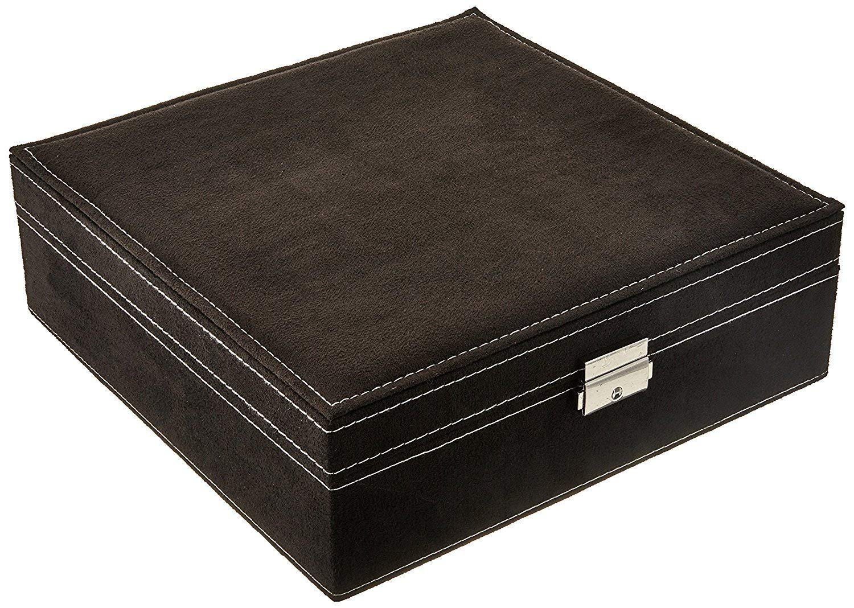 KLOUD City Two-Layer lint Jewelry Box Organizer Display Storage case with Lock Blue