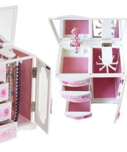 Mele & Co. Hyacinth Girl's Musical Ballerina Jewelry Box (Flowers and Hearts Design)