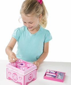 Melissa & Doug Decorate-Your-Own Wooden Jewelry Box Craft Kit